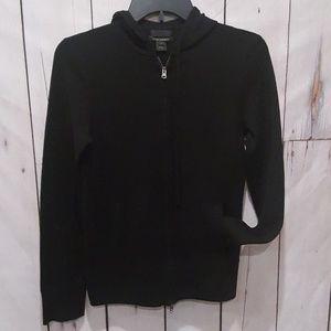 J. Crew| Italian Cashmere Black Zipper Hoodie